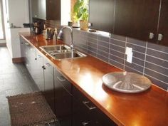 Copper countertop! So awesome.