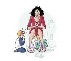 Τελικά, όλες περνάμε ακριβώς τα ίδια. Μια μαμά ζωγραφίζει πώς είναι η καθημερινότητά μας με τα παιδιά και μας κάνει να γελάμε!