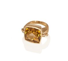 Lea Square Topaz Ring, Diamonds,18k Gold - see all the designs, shop, and more at www.annaruthhenriques.com