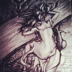 "| Day 24. ""I must've fallen asleep drawing woodland creatures."" | edith ritter"