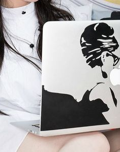 Computer Decal from Audrey Hepburn Breakfast at Tiffany's