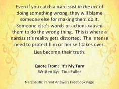 Narcissists are never wrong