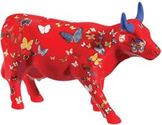 Klaricious aka Butterfly Cow (Medium Ceramic) on Shop CowParade Cow Parade, Coffee Cow, Eat More Chicken, Paper Mache Animals, Musk Ox, Cow Gifts, Mosaic Animals, Cute Cows, Cow Art