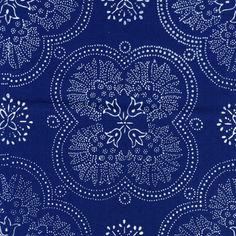Kékfestő Cotton: kézzel festett kék nyomtatott szövet Magyarországról