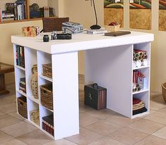nice big surfaced craft table for cutting fabric, patterns, sewing, pretty much everything
