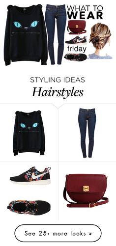 """Untitled #525"" by yana-dulina on Polyvore featuring NIKE, Frame Denim and The Code"