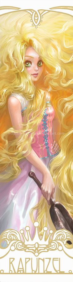 Disney Princesses Bookmarks: Rapunzel by hart-coco.deviantart.com on @deviantART - First in a series