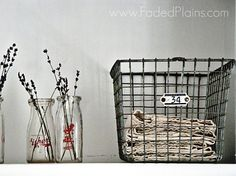 Numbered wire basket - reminds me of the swimming pool :-)