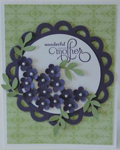 Wonderful Mother Flower Bouquet Card Stampin Up Handmade via Etsy