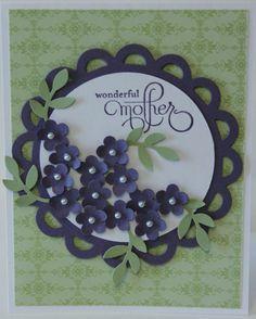 Wonderful Mother Flower Bouquet Card Stampin Up Handmade