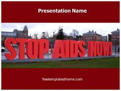 Download #free #Stop #AIDS #PowerPoint #Template for your #powerpoint…