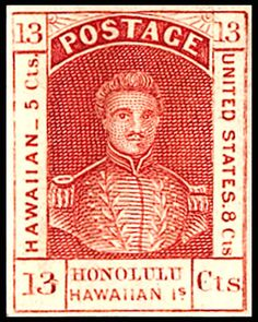 Hawaiian Republic | ... King Kamehameha III stamp, Hawaii Scott 6. Click on image to enlarge