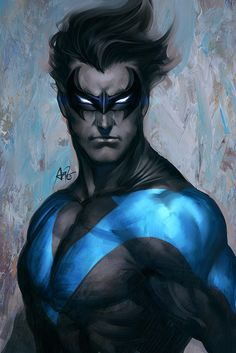 Don't ask me why, but I LOVE Nightwing. Love Love Nightwing.    Awesome BATMAN, BATGIRL and NIGHTWING Geek Art Series - News - GeekTyrant