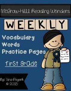 It's here and half-price through Weekly vocabulary practice for the McGraw-Hill Reading Wonders series for FIRST GRADE! I created this packet as a way to practice vocabulary as a part of homework! Vocabulary Strategies, Teaching Vocabulary, Vocabulary Practice, Teaching Language Arts, Student Teaching, Vocabulary Words, Wonders Reading Programs, Wonders Reading Series, 2nd Grade Classroom