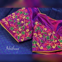 Simple blouses for those simple occasions ! Ping on 9884179863 to book an appointment! Cutwork Blouse Designs, Best Blouse Designs, Simple Blouse Designs, Aari Embroidery, Bead Embroidery Patterns, Hand Designs, Flower Designs, Maggam Work Designs, Hand Work Blouse Design