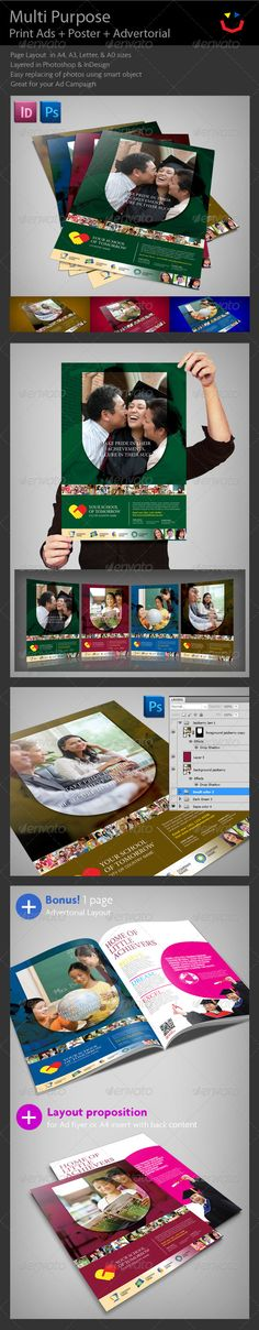 A package designed template suited for education business