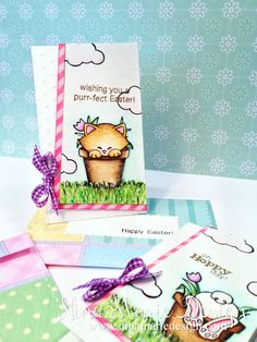 Seed Packet Easter Cards by Nina-Marie Design | Stamps by Newton's Nook Designs