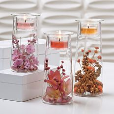 Symmetry Trio is a great way to show off your favorite collections!  The possibilities are ENDLESS!  $30 for the set of 3.  Purchase at www.partylite.biz/jenniferandreottola    Contact me for a coupon!