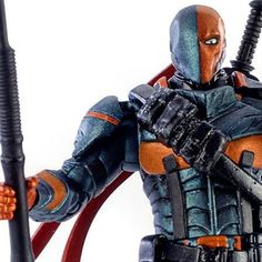 """If you  missed out on this HTF (at one point $30) 3.75"""" Deathstroke figure it's $11.45 http://amzn.to/1R9xKrz  #dc #dccomics #dcmultiverse #deathstroke #toys #toystagram #FLYGUY"""