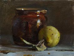 Daily paintings | Still life with jug and quince | Postcard from Provence
