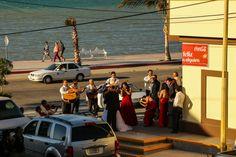 Wedding celebration at an OXXO in La Paz, Baja.