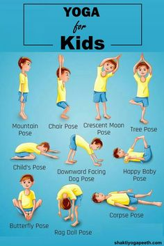 By practicing these yoga poses, kids can learn how to exercise, develop confidence, and concentrate better.