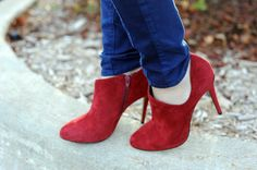 red suede, love these boots always have been a fan of the ankle boots
