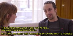"Emma Watson And Lin-Manuel Miranda Sorted The Founders From ""Hamilton"" Into Hogwarts Houses"