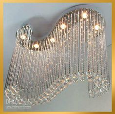 Modern Crystal Chandeliers | Wholesale - Modern Shaped Clear Crystal Chandelier Light Pendant Lamp ...