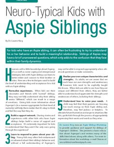 5 Techniques to build the level of understanding and and acceptance for a kid with an Aspie sibling #ParentingResources