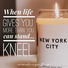 When life gives you more than you can stand😔.🙏Take it all to Jesus. 🙌 He loves you so. We are praying for you New York City🌃💕🙏🏻. Scented Candles, Candle Jars, Lord Of Hosts, Biblical Inspiration, The Right Man, Biblical Quotes, Daily Prayer, Christian Parenting, Godly Woman