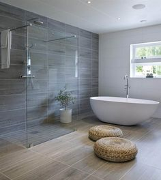 Does your home need a bathroom remodel? Give your bathroom design a boost … - Bathroom Layout Plans Luxury Master Bathrooms, Dream Bathrooms, Beautiful Bathrooms, Modern Bathroom, Small Bathroom, Minimalist Bathroom, Master Baths, Bathroom Showers, Bathroom With Shower And Bath