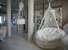 Hanging Chair From Ceiling Referral: 1569766628 Hanging Papasan Chair, Macrame Hanging Chair, Macrame Chairs, Macrame Plant Hangers, Swinging Chair, Hanging Cradle, Hanging Crib, Chair Swing, Diy Hanging