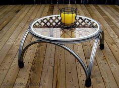 Da wir ja recht viele Münsteraner unter unseren Besuchern haben: Hier mal eine Idee direkt für die Fahrradstadt Deutschlands: Ein toller Tisch, nur aus Fahrradteilen hergestellt (und einer Glasplatte) ... - Ich möchte jetzt die Münsteraner HÖREN !! - Daumen hoch für diese Idee !!!