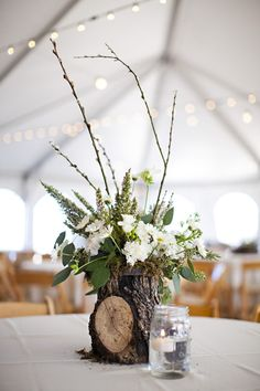 Lightning C Ranch Wedding by McGowan Images Wedding Table Centerpieces, Floral Centerpieces, Flower Arrangements, Wedding Decorations, Table Decorations, Table Wedding, Rustic Wedding, Our Wedding, Wedding Ideas