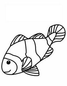 download clownfish template   clownfisch, ausmalbilder und