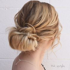 Loose romantic wedding hairstyle. For more hair inspiration visit Instagram: @wb_upstyles