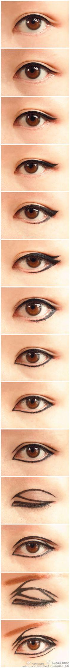 【眼线画法大全】不同眼线的区分和画法 眼线的总汇合集 可用于日常 party 秀场!