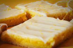 Lemon cream cheese bars using lemon cake mix -