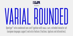 Varial Rounded font download