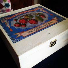 Foto Transfer Potch, Photo Transfer, Diy Food, Decorative Boxes, Shabby, Ideas, Home Decor, Strawberries, Creative