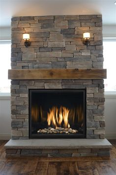 Incredible Fireplace Ideas for Your Best Home Design - Natural Stone Fireplaces. A high, exceptional fireplace is the prime focus of - Cabin Fireplace, Fireplace Screens, Farmhouse Fireplace, Fireplace Remodel, Living Room With Fireplace, Fireplace Design, Fireplace Mantels, Fireplace Cover, Fireplace Ideas