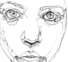 Continuous Line Drawing Face
