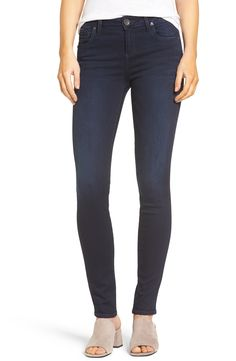 Love these stretch denim skinny jeans by Kut From The Kloth from Nordstrom! On sale now! // http://rstyle.me/n/cte5q2cb5bp