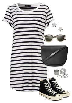 """Untitled #3138"" by meandelstyle ❤ liked on Polyvore featuring Converse, Topshop, Pieces and Marc by Marc Jacobs"