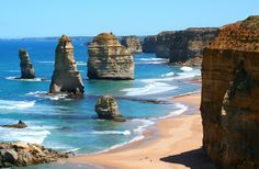 Australia - 12 Apostles on Great Ocean Road - did a three day coastal hike that ended here. My first experience of leaches....who would have known!