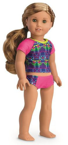 American Girl Doll GOTY 2016 LEA CLARK RAINFOREST DREAMS PAJAMAS PJ ROMPER SHOES