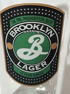 Brooklyn Brewery Beer Pint Glass Lager Craft Beer