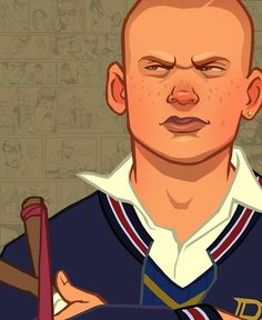 Bully rockstar art - one of my favourite games ever