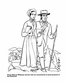 the america expansion coloring pages 19th century american history coloring pages 1836 dr marcus and narcissa whitman dr marcus and narcissa whitman